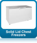 Solid lid chest freezers